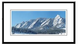 Snowy Flatirons Framed Print